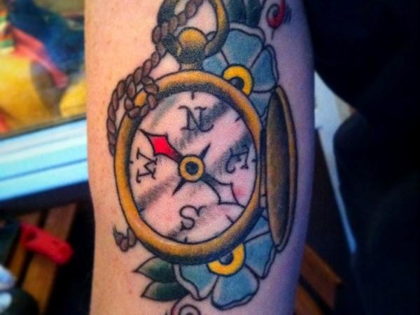 kompass-tattoo