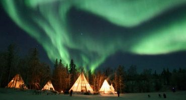 Nordlichter über Yellowknife