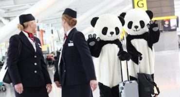 Der fliegende Panda von British Airways