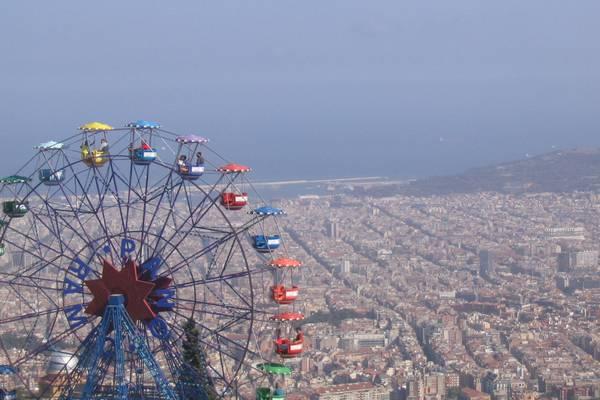 Karussell über Barcelona