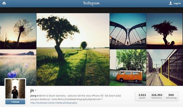 Jn bei Instagram