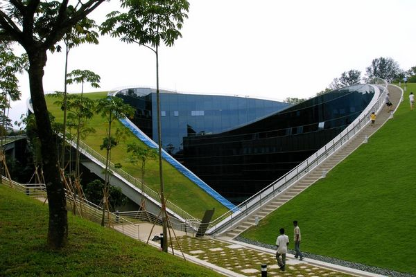 Nanyang-Technological-University-Singapur-Dachgarten