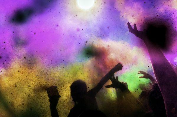 Farbenmeer beim Holi-Festival in Indien
