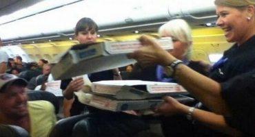 Pilot spendiert Pizza
