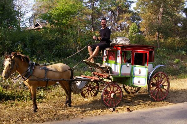 Als Kutscher in Myanmar