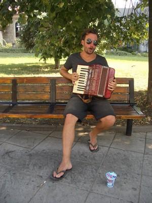 Mit Schifferklavier in Plovdiv Bulgarien