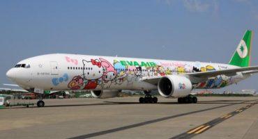 """""""Hello Kitty""""-Jet landet auch in Paris"""