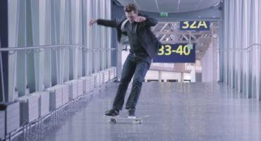 Skaten Sie am Flughafen Helsinki