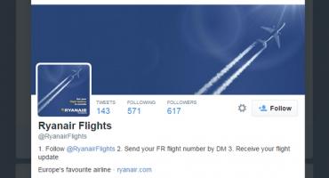 Ryanair twittert Flugstatus