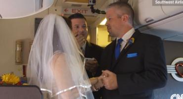 Hochzeit im Flugzeug