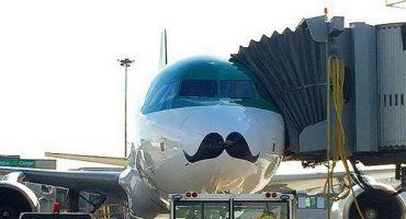 Movember: Aer Lingus verpasst Jet einen Schnauzer