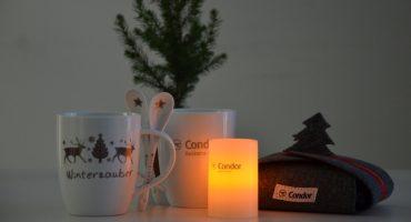 Weihnachtsstimmung an Bord der Condor-Maschinen