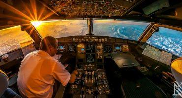 Spektakuläre Bilder aus dem Cockpit