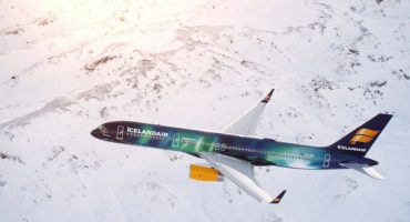 Das neue Aurora-Borealis-Flugzeug von Icelandair
