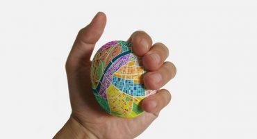 Egg Map: Stadtplan zum Kneten