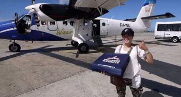 Airline liefert Pizza aus