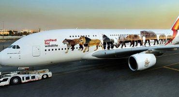 Emirates wirbt mit A380-Sonderlackierung für Artenschutz