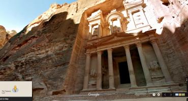 Google Street View besucht Rote Felsenstadt Petra
