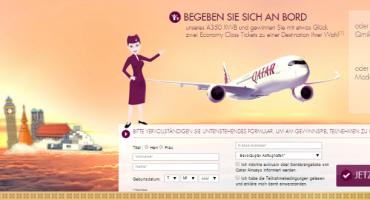 Gewinnen Sie Flüge mit Qatar