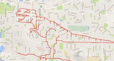 Kuriose GPS-Zeichnungen