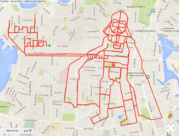 vater-fahrrad-gps-doodle-stephen-lund