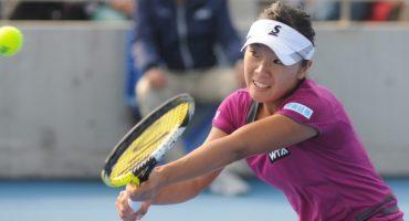Tennisspielerin fliegt ins falsche Charleston