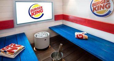 Burger King in Helsinki eröffnet Sauna