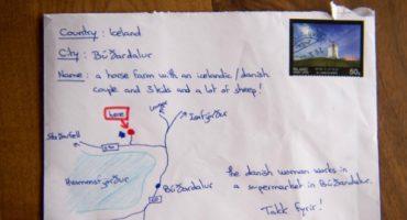 Warum isländische Postboten einfach großartig sind: Tourist adressiert Brief mit selbstgemalter Karte