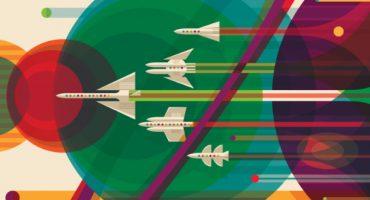 Wie die Nasa mit Retropostern für den Weltraumtourismus wirbt