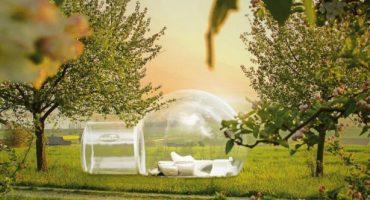 Urlaub am Bodensee: Übernachten im transparenten Kugelzelt